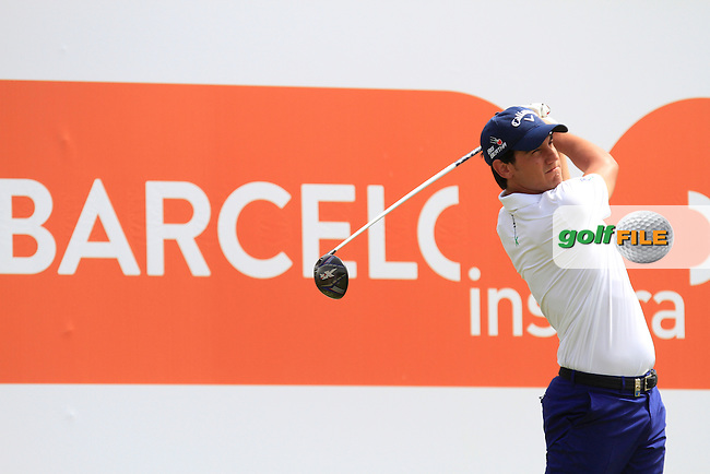 Matteo Manassero (ITA) on the 9th tee during the Pro-Am of the Open de Espana  in Club de Golf el Prat, Barcelona on Wednesday 13th May 2015.<br /> Picture:  Thos Caffrey / www.golffile.ie