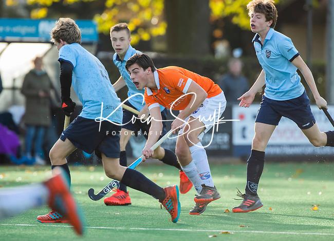 BLOEMENDAAL  - Kiet Citroen,  , competitiewedstrijd junioren  landelijk  Bloemendaal JA1-Nijmegen JA1 (2-2) . COPYRIGHT KOEN SUYK