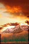 Winter sunset, Mt. Timpanogas. Northern Utah, USA file #4614