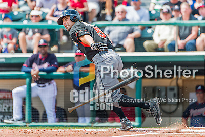 19 March 2015: Miami Marlins outfielder Reed Johnson in Spring Training action against the Atlanta Braves at Champion Stadium in the ESPN Wide World of Sports Complex in Kissimmee, Florida. The Braves defeated the Marlins 6-3 in Grapefruit League play. Mandatory Credit: Ed Wolfstein Photo *** RAW (NEF) Image File Available ***