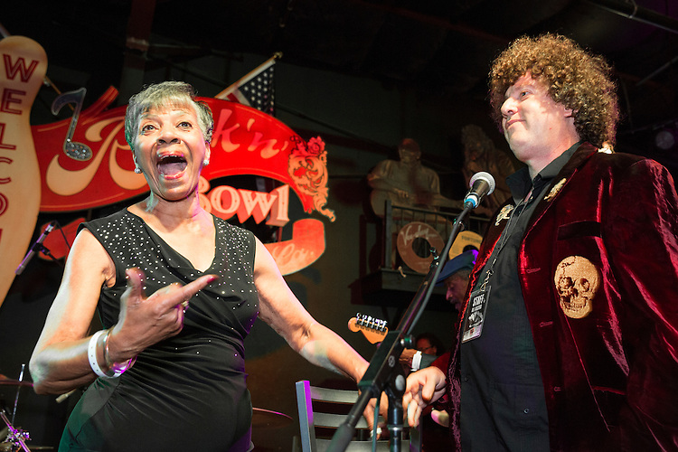 Barbara Lynn and Dr. Ira Padnos at the Ponderosa Stomp in New Orleans on October 3, 2015.