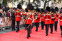Band of the Irish Guards<br /> arriving for the World Premiere of &quot;Goodbye Christopher Robin&quot; at the Odeon Leicester Square, London<br /> <br /> <br /> &copy;Ash Knotek  D3311  20/09/2017
