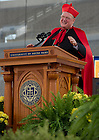 May 19, 2013; Timothy Cardinal Dolan, Archbishop of New York and Commencement speaker, begins his address at the 2013 Commencement ceremony in Notre Dame Stadium...Photo by Matt Cashore/University of Notre Dame