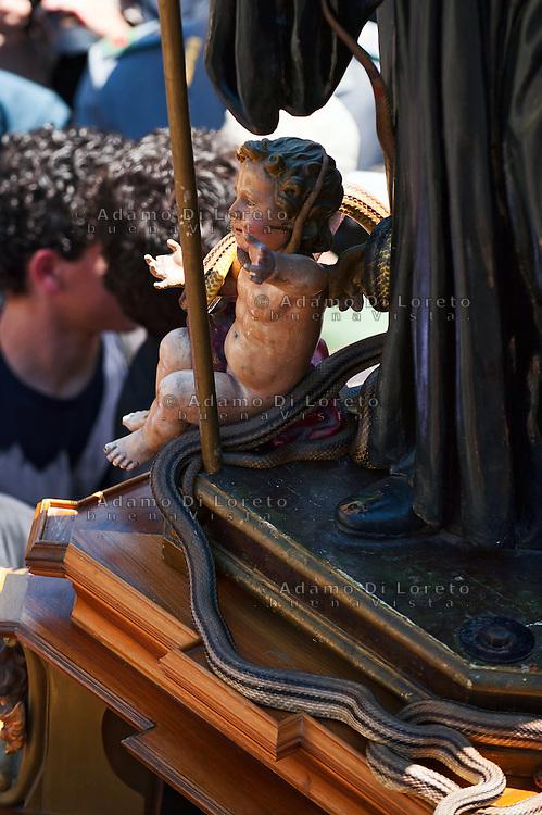 COCULLO (AQ) 05/05/2011: OLD TIPYCAL FEAST OF SNAKES - L'ANTICA FESTA DEI SERPENTI. FOTO ADAMO DI LORETO
