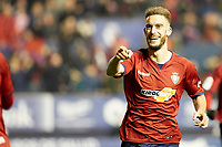 Roberto Torres (midfield; CA Osasuna) celebrate the goal during the Spanish football of La Liga 123, match between CA Osasuna and AD Alcorcón at the Sadar stadium, in Pamplona (Navarra), Spain, on Sunday, January 6, 2019.