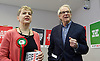 Ken Loach, director of Cathy Come Home launches Left Unity's 2015 manifesto in a Soho squat in Ingestre Court, Ingestre Place, Soho, London, Great Britain <br /> 31st March 2015 <br /> <br /> <br /> Ken Loach <br />  <br /> Kate Hudson - National Secretary <br /> <br /> <br /> Photograph by Elliott Franks <br /> Image licensed to Elliott Franks Photography Services
