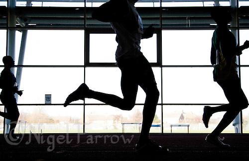 21 FEB 2009 - HIPAC,LOUGHBOROUGH,GBR - Mens 60m heat - Loughborough Open Indoor Athletics Meeting (PHOTO (C) NIGEL FARROW)