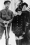 Russian Emperor Nicholas II left with his son Alexei center and daughter Maria right. 1914