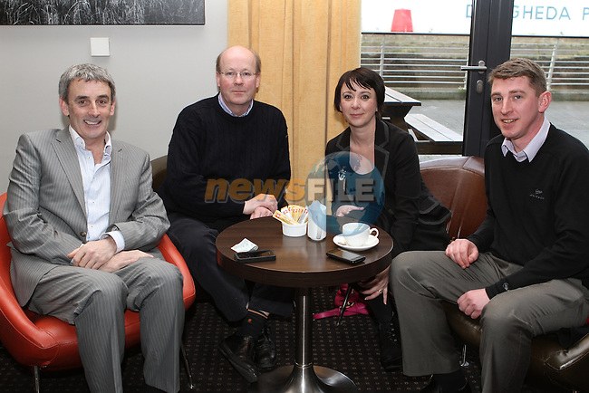 Con O'Donoghue, Kielan Logan, JulieAnne Lawlor and Darren Bulman at the Local Heroes event in the d Hotel.....(Photo credit should read Jenny Matthews www.newsfile.ie)....This Picture has been sent you under the conditions enclosed by:.Newsfile Ltd..The Studio,.Millmount Abbey,.Drogheda,.Co Meath..Ireland..Tel: +353(0)41-9871240.Fax: +353(0)41-9871260.GSM: +353(0)86-2500958.email: pictures@newsfile.ie.www.newsfile.ie.