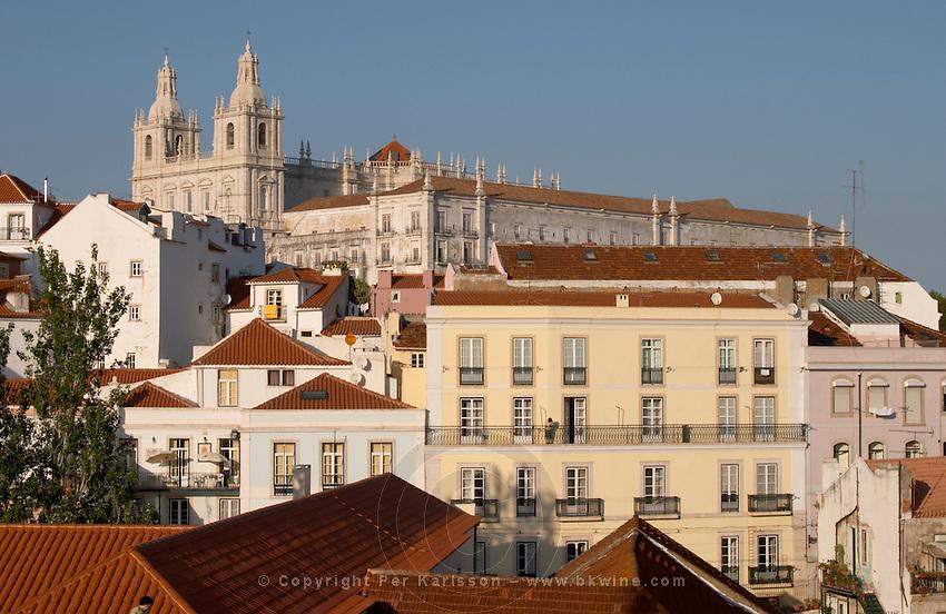sao vicente de fora monastery miradouro viewpoint alfama district lisbon portugal