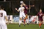 07 November 2008: Virginia's Sinead Farrelly (17) and Virginia Tech's Jennifer Harvey (right). The University of Virginia and Virginia Tech played to a 1-1 tie after 2 overtimes at WakeMed Stadium at WakeMed Soccer Park in Cary, NC in a women's ACC tournament semifinal game.  Virginia Tech advanced to the final on penalty kicks, 2-1.