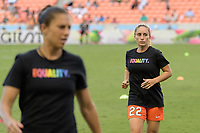 Houston, TX - Wednesday June 28, 2017: Camille Levin warming up during a regular season National Women's Soccer League (NWSL) match between the Houston Dash and the Boston Breakers at BBVA Compass Stadium.