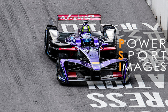 Sam Bird of DS Virgin Racing team during the first stop of the FIA Formula E Championship HKT Hong Kong ePrix at the Central Harbourfront Circuit on 9 October 2016, in Hong Kong, China. Photo by Marcio Rodrigo Machado / Power Sport Images