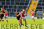 Michael Potts  Dr Crokes and Brendan O'Keeffe Rathmore clash during their SFC clash in Fitzgerald Stadium on Sunday