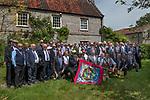 Long Sutton Friendly Society annual Club Walk Day. 2019. Charity Farm club members.