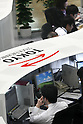 Apr 22, 2010 - Tokyo, Japan - Employees work work at the Tokyo Stock Exchange in Tokyo, Japan, on April 22, 2010. The Nikkei Stock Average of 225 issues closed at 10,949.09 on the Tokyo Stock Exchange Thursday, down 140.96 points or 1.27 per cent.