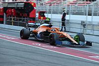 28th February 2020; Circuit De Barcelona Catalunya, Barcelona, Catalonia, Spain; Formula 1 Pre season Testing Week Two, Day 3; McLaren, Carlos Sainz