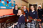 Castleisland Pres Secondary School launching their talent show on Friday last, l-r, on the ivory keys Ellie Daly (Currans), Siofra O'Connor (MC) (Castleisland), on violin Tara Enright (Cordal) and Aine Barry (Farranfore).