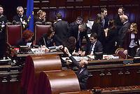 Roma, 31 Gennaio 2015<br /> Enrico Letta saluta la Presidente Laura Boldrini.<br /> Camera dei Deputati.<br /> Alla quarta votazione viene eletto Sergio Mattarella a Presidente della Repubblica.