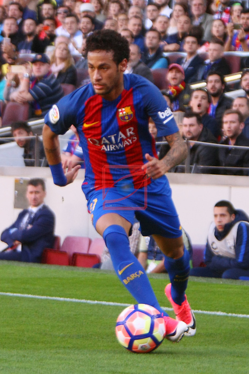League Santander 2016/2017. Game: 36.<br /> FC Barcelona vs Villarreal CF: 4-1.<br /> Neymar Jr.
