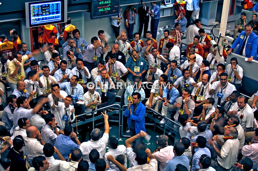 Bolsa de Valores de São Paulo. Bovespa. 2008. Foto de Rogério Reis.