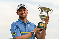 Bernd Wiesberger (AUT) and the trophy for winning during the final round of the 76 Open D'Italia, Olgiata Golf Club, Rome, Rome, Italy. 13/10/19.<br /> Picture Stefano Di Maria / Golffile.ie<br /> <br /> All photo usage must carry mandatory copyright credit (© Golffile | Stefano Di Maria)
