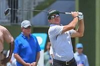 Brian Gay (USA) watches his tee shot on 10 during round 3 of the AT&T Byron Nelson, Trinity Forest Golf Club, at Dallas, Texas, USA. 5/19/2018.<br /> Picture: Golffile | Ken Murray<br /> <br /> <br /> All photo usage must carry mandatory copyright credit (© Golffile | Ken Murray)