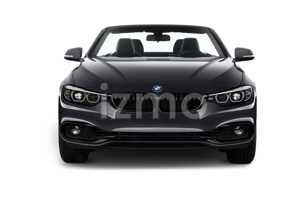 Car photography straight front view of a 2019 BMW 4 Series 430i 2 Door Convertible