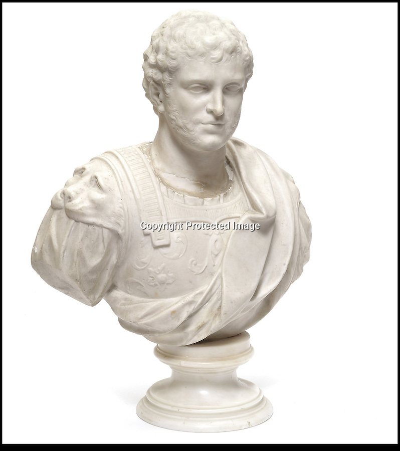BNPS.co.uk (01202) 558833<br /> Picture: Bonhams<br /> <br /> An 18th century sculpted marble bust of an Emperor, est £5,000<br /> <br /> It is the ultimate garden sale -- The aristocrat Cunliffe-Copeland family are auctioning off millions of pounds of antiques in a unique sale of the entire contents of their stately home Trelissick House near Truro in Cornwall. For generations the family have filled the magnificent The 18th century manor with treasures acquired from travels around the globe.<br /> <br /> 58 years ago the house was left to the National Trust on the condition members of the family could carry on living in the property. But the current incumbent, William Copeland and wife Jennifer, have decided to buy a normal-sized family home and are unable to take the hundreds of heirlooms with them. So they are holding a two-day sale of ancient ornaments, paintings, furniture, jewellery, silverware, books, rugs and wine in the grounds of Trelissick House, near Truro, later this month, and hope to raise £3million
