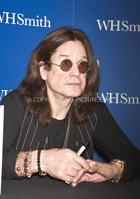 WWW.ACEPIXS.COM . . . . .  ..... . . . . US SALES ONLY . . . . .....December 6 2009, London....Ozzy Osbourne book signing at the Trafford Centre  on December 6 2009 in Manchester....Please byline: FAMOUS-ACE PICTURES... . . . .  ....Ace Pictures, Inc:  ..tel: (212) 243 8787 or (646) 769 0430..e-mail: info@acepixs.com..web: http://www.acepixs.com