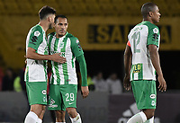 BOGOTA - COLOMBIA, 31-01-2018: Jugadores de Atlético Nacional después del encuentro con Millonarios por la final ida de la SuperLiga Aguila 2018 jugado en el estadio Nemesio Camacho El Campin de la ciudad de Bogotá. / Players of Atletico Nacional after first leg match against Millonarios for the final of the SuperLiga Aguila 2018 played at the Nemesio Camacho El Campin Stadium in Bogota city. Photo: VizzorImage / Gabriel Aponte / Staff.