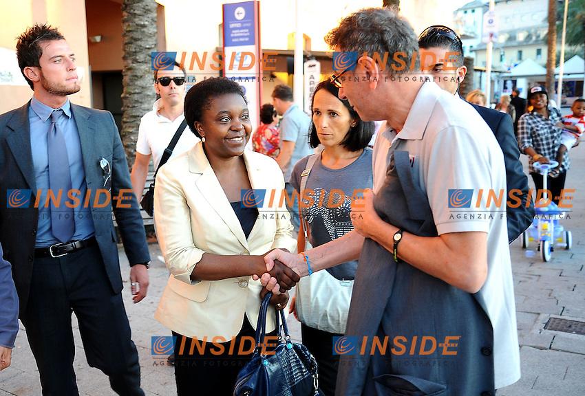 Cecile Kyenge saluta la gente<br /> Genova 03-09-2013 Festa Nazionale Partito Democratico<br /> Photo  Genova Foto /Insidefoto