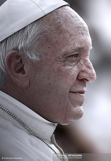 Pope Francis during of a weekly general audience at St Peter's square in Vatican.