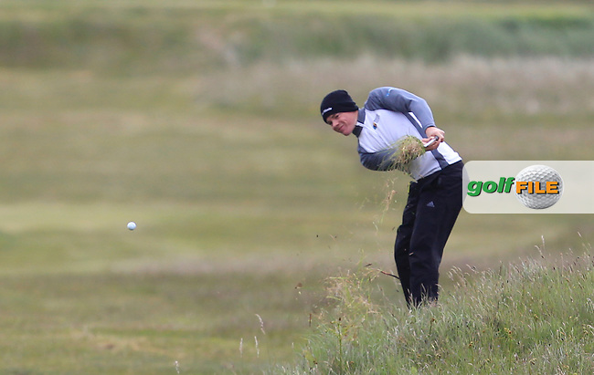 Stuart Grehan (Tullamore) in the rough on the 3rd during Round 3 of the East of Ireland Amateur Open Championship at Co. Louth Golf Club, Baltray on Monday 1st June 2015.<br /> Picture:  Thos Caffrey / www.golffile.ie