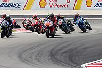 3rd November 2019; Sepang Circuit, Sepang Malaysia; MotoGP Malaysia, Race Day;  The number 43 Pramac Racing rider Jack Miller leads the start of the race - Editorial Use