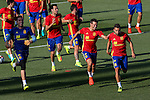 Spanish Adrian San Miguel, Cesar Azpilicueta, Jordi Alba and Sergio Busquets durign the first training of the concentration of Spanish football team at Ciudad del Futbol de Las Rozas before the qualifying for the Russia world cup in 2017 August 29, 2016. (ALTERPHOTOS/Rodrigo Jimenez)
