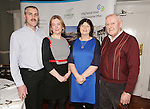 Attending the  Entrepreneur of the Year 2016 in the  Limerick Final of the National Enterprise Awards at a ceremony in the Dunraven Arms Hotel, Adare were Declan McCarthy, McAdare, Elaine McCarthy, McAdare, Siobhan Carey, AIB and Donie McCarthy. <br /> Photograph Liam Burke/Press 22