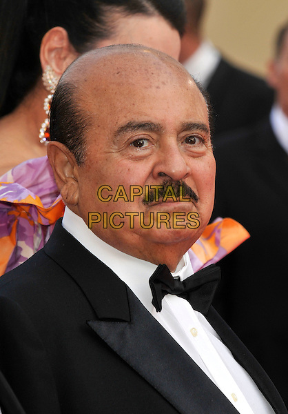 """ADNAN KHASHOGGI.at the screening of """"Blindness"""", the opening film at the.61st Cannes International  Film Festival .14th May 2008 .gala premiere portrait headshot Kashoggi moustache bow tie.CAP/PL.© Phil Loftus/Capital Pictures"""