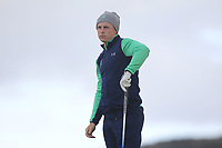 Conor Purcell from Ireland on the 5th tee during Round 3 Singles of the Men's Home Internationals 2018 at Conwy Golf Club, Conwy, Wales on Friday 14th September 2018.<br /> Picture: Thos Caffrey / Golffile<br /> <br /> All photo usage must carry mandatory copyright credit (&copy; Golffile | Thos Caffrey)
