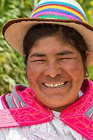 Peru, Misminay Village, Urubamba Valley.  Quechua Woman.