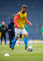 11th July 2020; Ewood Park, Blackburn, Lancashire, England; English Football League Championship Football, Blackburn Rovers versus West Bromwich Albion; Adam Armstrong of Blackburn Rovers warms up before the game