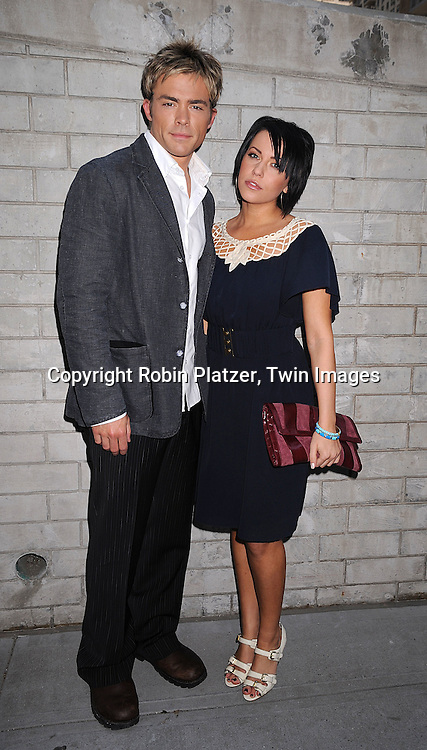 John-Paul Lavoisier and Farah Fath of One Life To Live..at the Daytime Emmy Nominations on April 30, 2008 at the..ABC Studio in New York City.....Robin Platzer, Twin Images