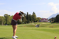 In Gee Chun (KOR) tees off the par3 5th tee during Thursday's Round 1 of The Evian Championship 2018, held at the Evian Resort Golf Club, Evian-les-Bains, France. 13th September 2018.<br /> Picture: Eoin Clarke | Golffile<br /> <br /> <br /> All photos usage must carry mandatory copyright credit (&copy; Golffile | Eoin Clarke)