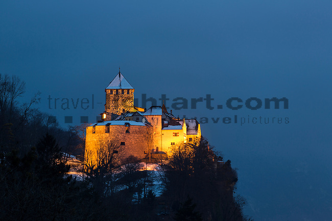 Schloss, Castle of Vaduz, Rheintal, Rhine-valley, Liechtenstein.
