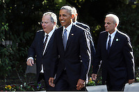 Pictured: Barack Obama on his way to meet with Greek Prime Minister Alexis Tsipras at the Maximou Mansion in Athens, Greece. Tuesday 15 November 2016<br /> Re: US President Barack Obama state visit to Greece
