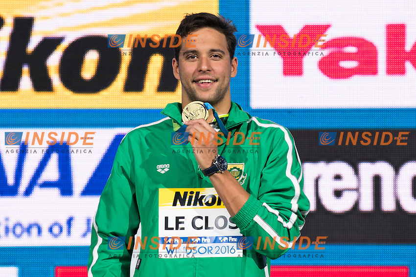 LE CLOS Chad RSA Gold Medal<br /> Men's 50m Butterfly<br /> 13th Fina World Swimming Championships 25m <br /> Windsor  Dec. 10th, 2016 - Day05 Final<br /> WFCU Centre - Windsor Ontario Canada CAN <br /> 20161210 WFCU Centre - Windsor Ontario Canada CAN <br /> Photo &copy; Giorgio Scala/Deepbluemedia/Insidefoto
