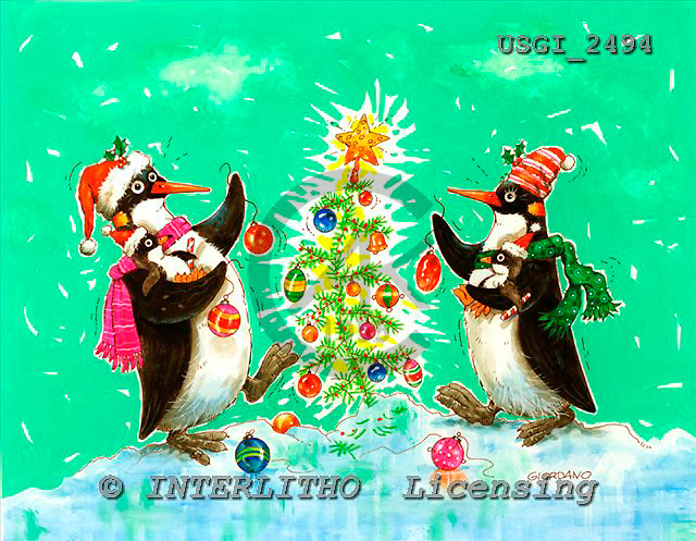 GIORDANO, CHRISTMAS ANIMALS, WEIHNACHTEN TIERE, NAVIDAD ANIMALES, paintings+++++,USGI2494,#XA#