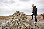 Hannah Looking At Gobustan Mud Volcano