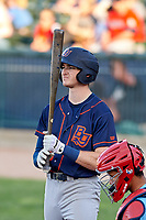 Bowling Green Hot Rods left fielder Beau Brundage (11) during a Midwest League game against the Peoria Chiefs at Dozer Park on May 5, 2019 in Peoria, Illinois. Peoria defeated Bowling Green 11-3. (Zachary Lucy/Four Seam Images)