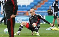 24.04.2012 SPAIN -  UEFA Champions League trining Bayern Munchen at Bernabeu stadium. The picture show Arjen Robben